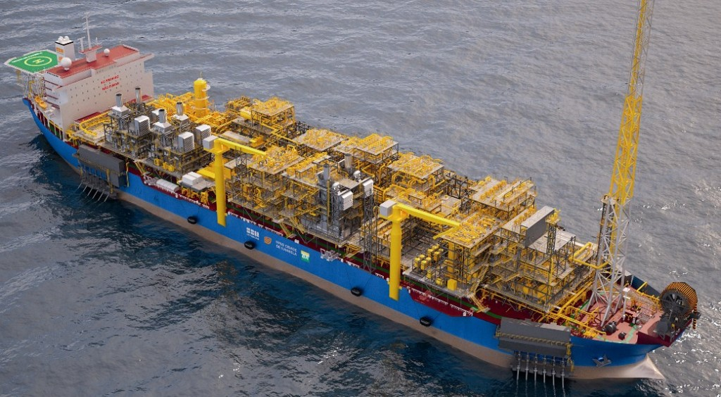Caption: When FPSO Cidade de Ilhabela begins production in Q4 2014, she will be SBM Offshore's largest FPSO, surpassing FPSO Cidade de Paraty. (Image courtesy of SBM Offshore)