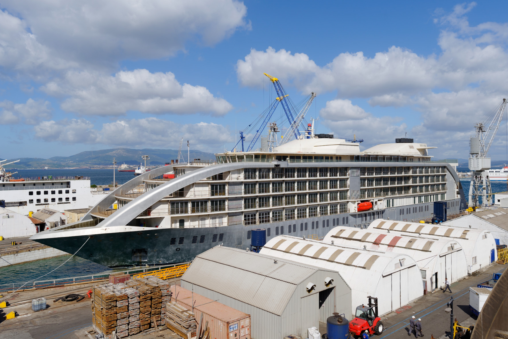 Gibdock prepares five star floating hotel yellow finch for High end cruise lines