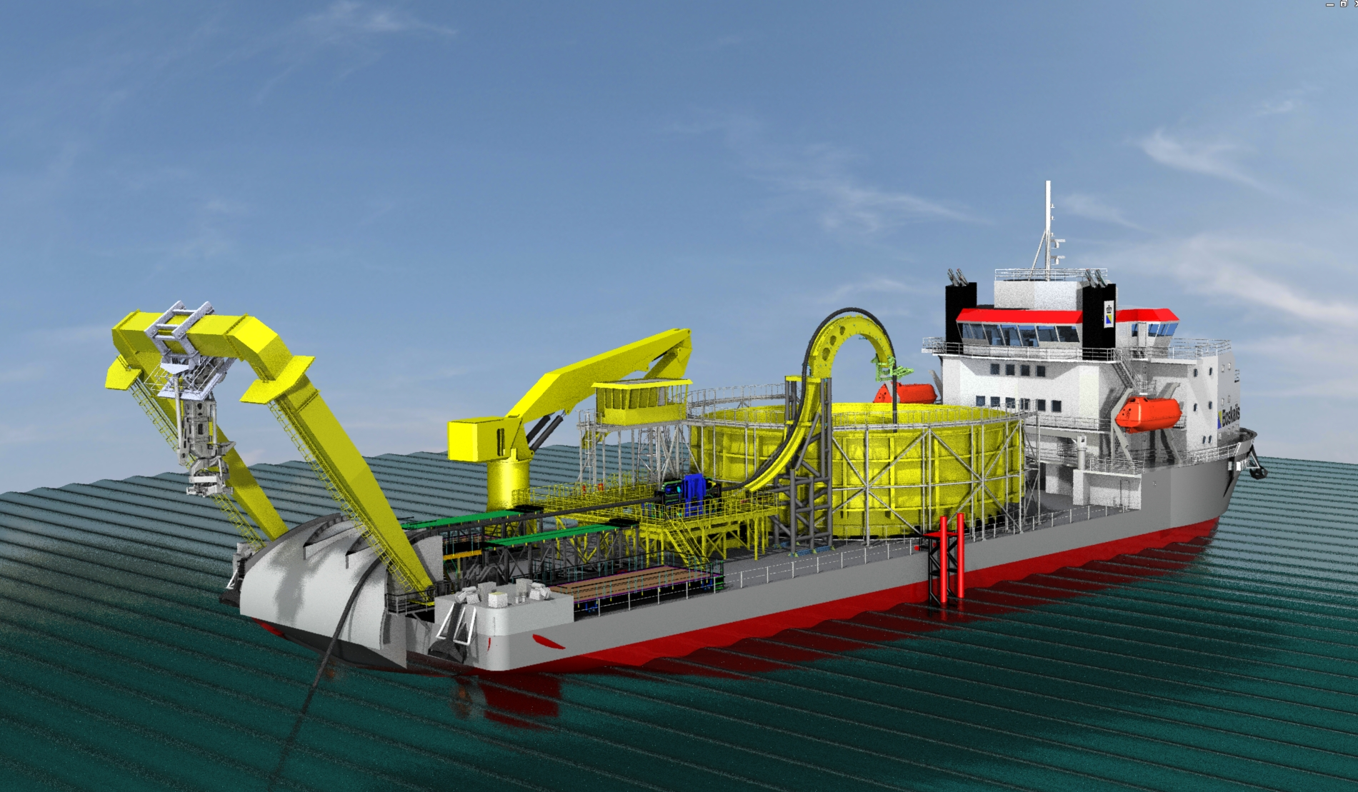 Caley A Frame For Boskalis Ndurance Cable Laying Vessel