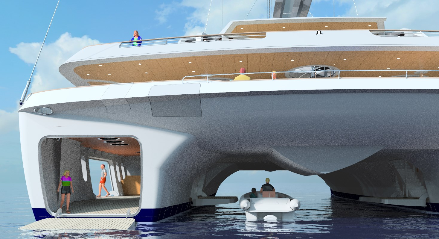 World 39 s largest sailing catamaran design to be presented for Yacht dekoration