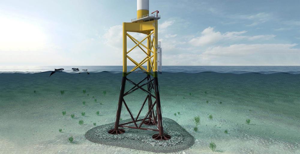 Suction Offshore Wind Turbine Foundation : Innovative offshore wind turbine 'suction bucket