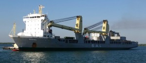 MV REGINE sets sail from Sattahip complete with her load of 2 x 25mtrs high  220ts Radiant Convertor Modules