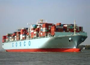 Container-ship-Cosco-Italy-on-the-river-Elbe-with-destination-port-Hamburg-2014_Buonasera-copyright-300x218