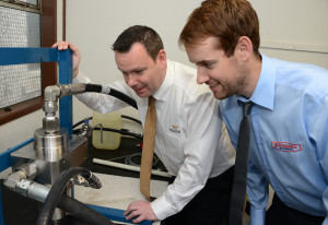 Left to right  James Simpson from Trelleborg alongside David Whyte of Schoolhill