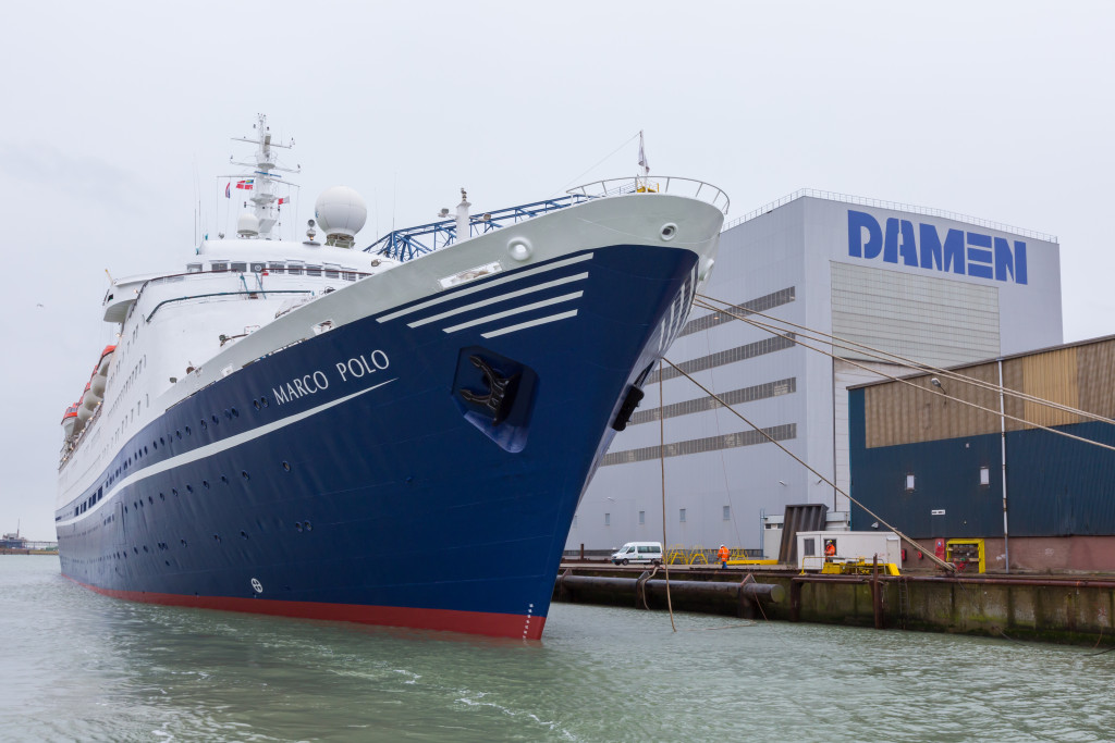 cruise ship marco polo leaves damen shiprepair vlissingen after 10th special survey yellow. Black Bedroom Furniture Sets. Home Design Ideas