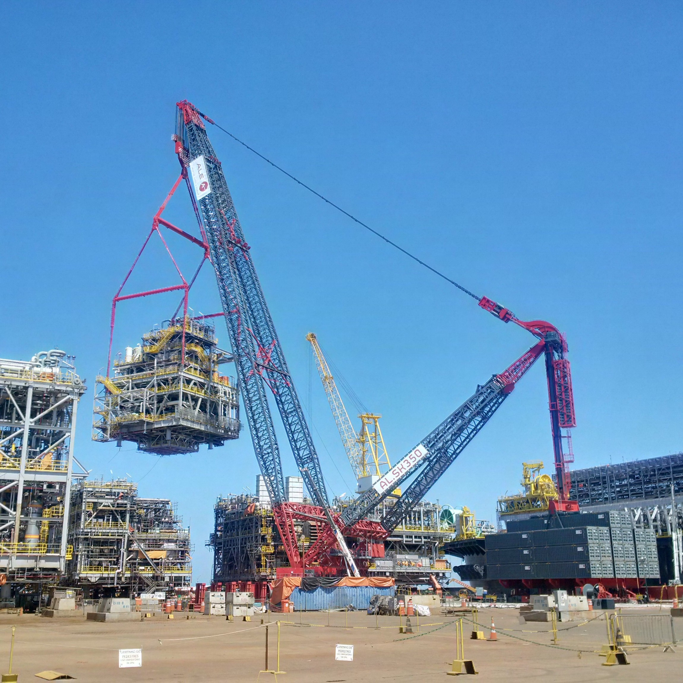 Inaugural Lifts For Largest Land Based Crane Yellow
