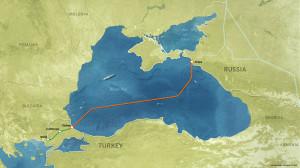 Turkstream offshore pipeline route