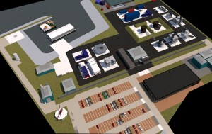 Artist impression of the new Falck safety centre