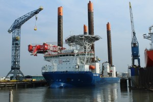 Jack-up vessel Vole au vent