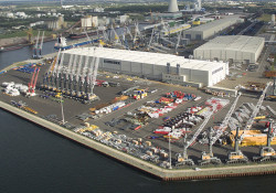Aerial View of Liebherr's Rostock Facilities