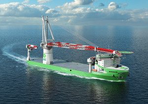 Artist Impression of Offshore Installation Vessel Orion