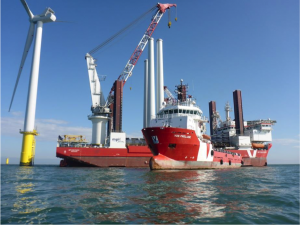 PSV Prelude Supplying MPI Offshore's Discovery