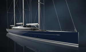 Royal Huisman's three-master schooner