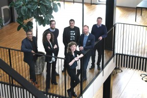 From left to right: Karim Jabbar (CTO, BLOC), Märtha Rehnberg (Co-Founder, BLOC), Jasper van't Veen (Research Assistant, BLOC), Deanna MacDonald (CEO, BLOC), Maurizio Pilu (VP, Digital Innovation, Lloyd's Register), Søren Stig (Co-founder, BLOC), Gary Pogson (Lead Technical Specialist, Lloyd's Register Marine & Offshore).