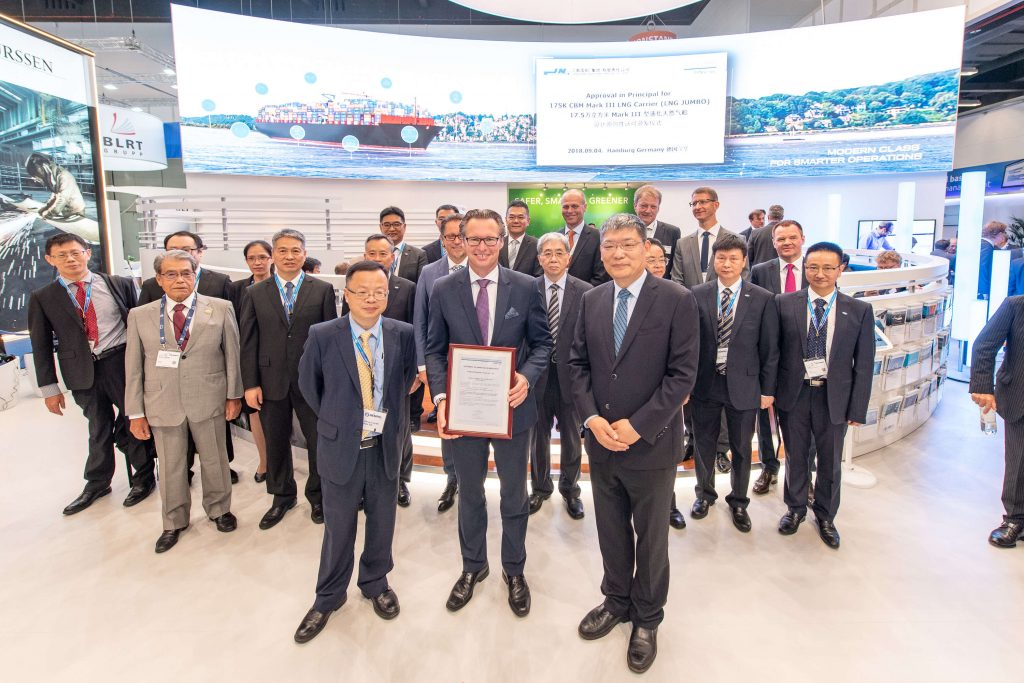 "DNV GL awards AiP to Jiangnan Shipbuilding Company for 175K CBM Mark III Flex LNG Carrier ""LNG JUMBO"""