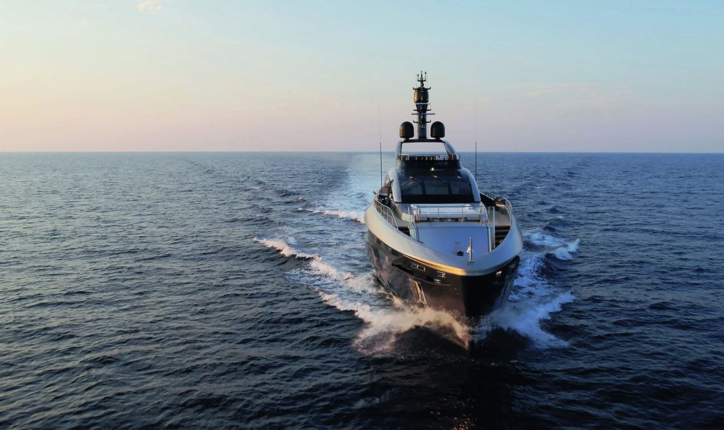 Visitors in Monaco, will be able to have a look at Rossinavi's 49m long Flying Dagger, which is powered by three 16V 4000 MTU engines.