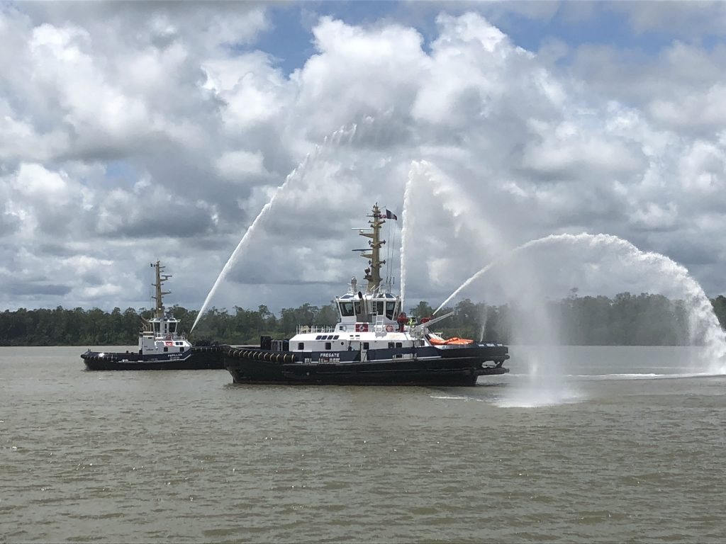 The dredging contractor Dutch Dredging welcomed two new vessels to its fleet last week during the naming ceremonies for the Papillon and the Fregate. Both vessels will go to work in the ports of Cayenne and Kourou in French Guiana.
