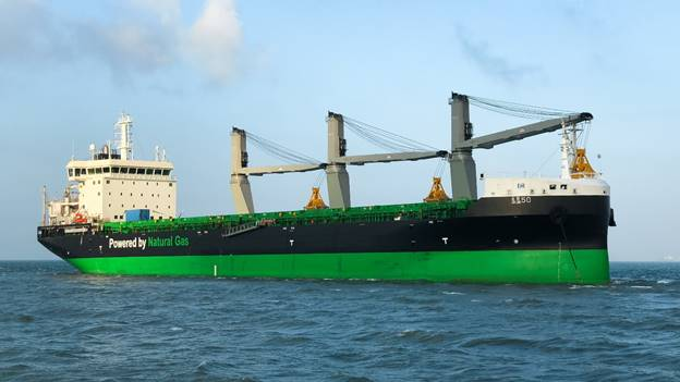 M/V Haaga -- the first LNG dual-fueled handysize bulk carrier in the world