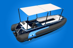 eJET is a 100% electric luxury yacht tender by Avon and Torqeedo