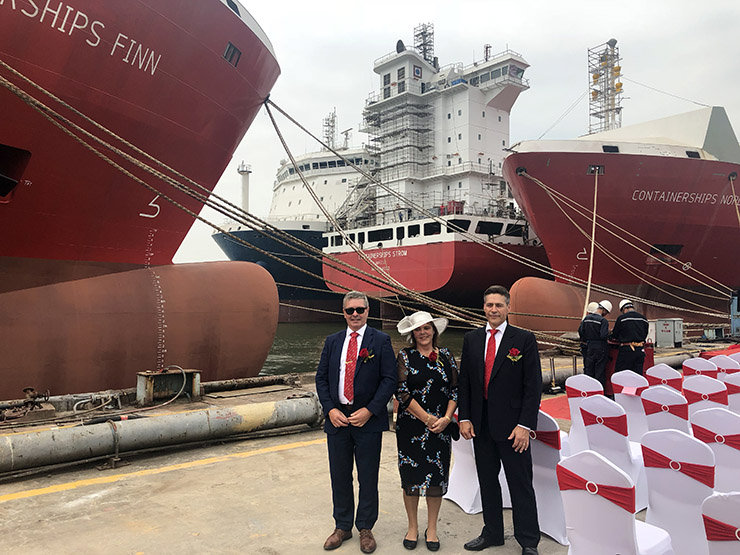 CONTAINERSHIPS' THIRD AND FOURTH LNG-POWERED VESSELS CHRISTENED