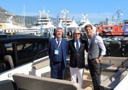 His Serene Highness Prince Albert of Monaco Testing Greenline NEO EDrive at Monaco Yacht Show