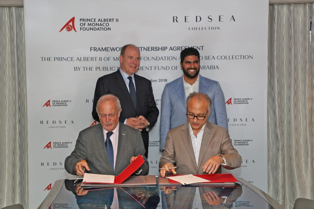 Red Sea Collection by The Public Investment Fund of Saudi Arabia and Prince Albert II of Monaco Foundation sign a Framework Agreement on sustainability and marine conservation aims