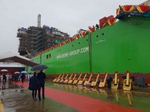 DEME's giant, next generation installation vessel 'Orion' launched in China