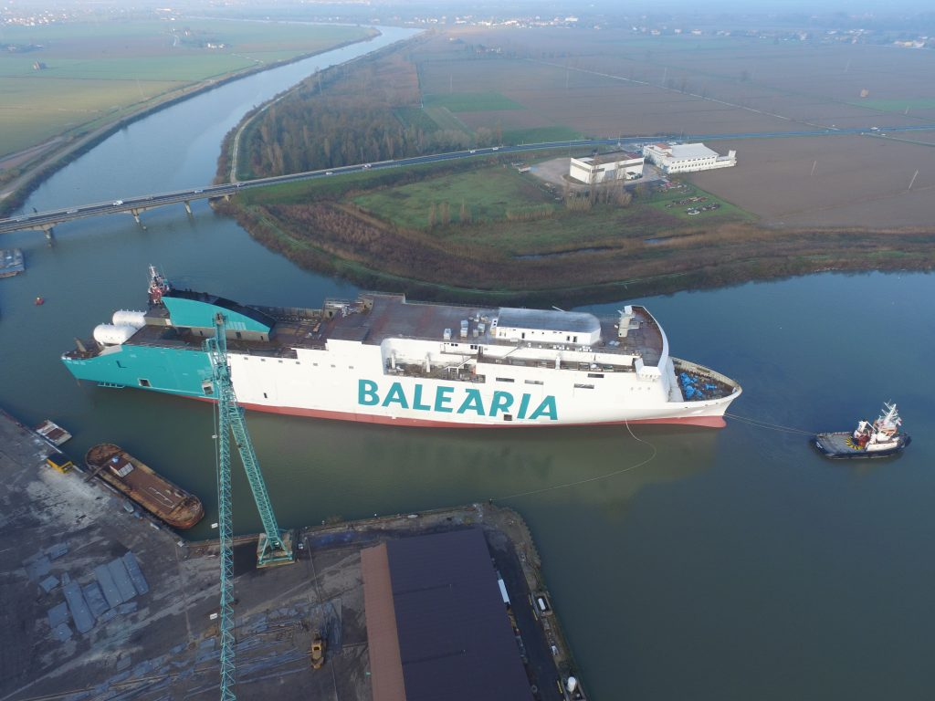 Baleària Sets Marie Curie Out to Sail